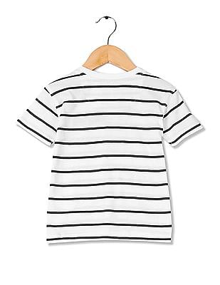 Cherokee Boys Round Neck Striped T-Shirt