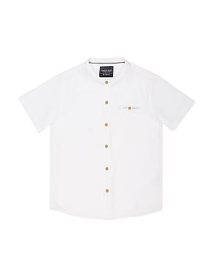 Cherokee Boys Short Sleeve Textured Shirt