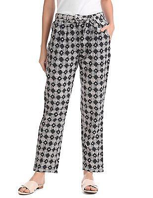 Bronz Slim Fit Printed Pants