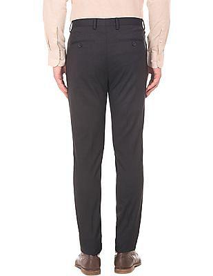 Arrow Newyork Slim Fit Printed Trousers