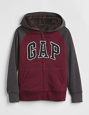 GAP Boys Cozy Logo Hoodie Sweatshirt