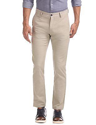 Arrow Sports Sim Fit Flat Front Trousers
