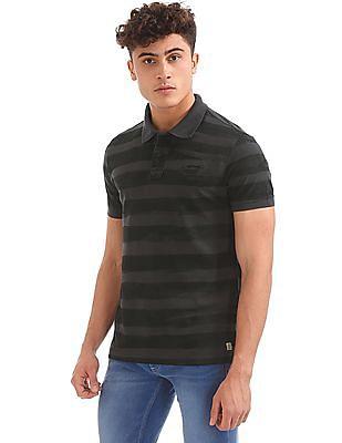 Ed Hardy Slim Fit Striped Polo Shirt