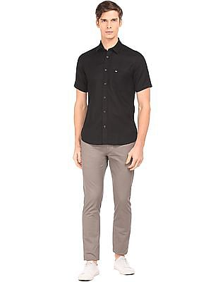 Arrow Sports Regular Fit Cotton Linen Shirt