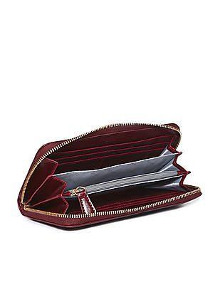 U.S. Polo Assn. Women Colour Blocked Zip Around Wallet