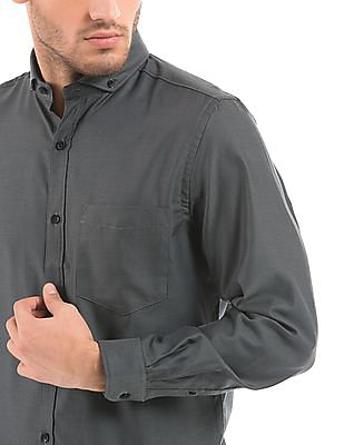 Geoffrey Beene Dobby Weave Slim Fit Shirt