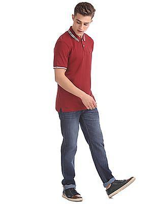 Arrow Sports Short Sleeve Solid Polo Shirt