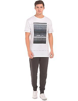 Colt Printed Front Round Neck T-Shirt