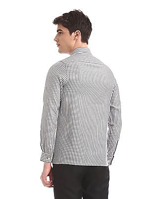 Excalibur Assorted Mitered Cuff Vertical Stripe Shirt - Pack Of 2