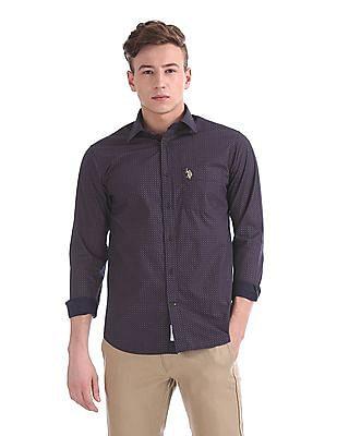 U.S. Polo Assn. Tailored Regular Fit Spread Collar Shirt