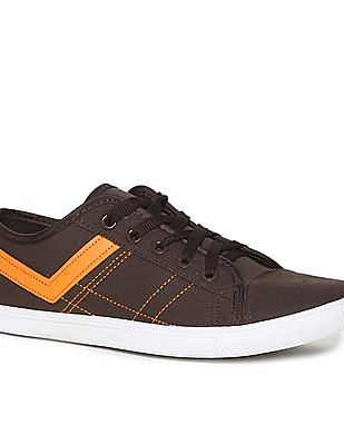 Colt Brown Contrast Trim Canvas Sneakers