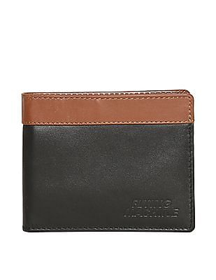 Flying Machine Black Bi-Fold Split Cardholder
