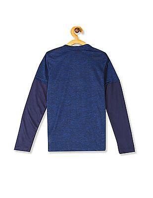 Cherokee Blue Boys Graphic Print Active T-Shirt
