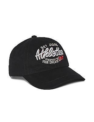 Colt Black Panelled Embroidered Cap