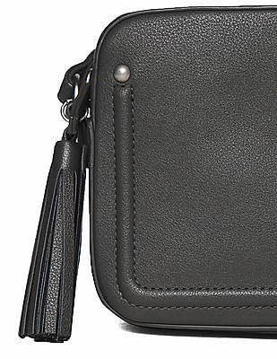 Aeropostale Textured Tassel Trim Sling Bag