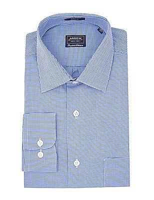 Arrow Puppytooth Pattern Regular Fit Shirt