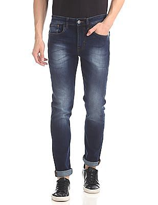 Arvind Slim Fit Stone Wash Jeans