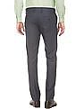 Excalibur Slim Fit Patterned Weave Trousers