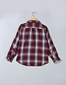 GAP Boys Red Double-Weave Convertible Shirt