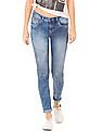 Flying Machine Women Acid Wash Skinny Jeans