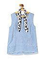 Cherokee Girls Frayed Hem Sleeveless Top