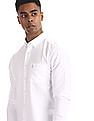 U.S. Polo Assn. White Round Cuff Button Down Shirt