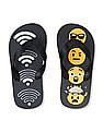 The Children's Place Boys Emoji Wi-Fi Flip Flops