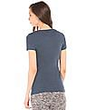 Aeropostale Heathered Printed Front T-Shirt