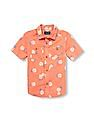 The Children's Place Boys Short Sleeve Pineapple Print Woven Button-Down Shirt