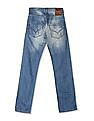 Flying Machine Blue Regular Straight Fit Washed Jeans