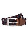 U.S. Polo Assn. Leather Trimmed Woven Belt
