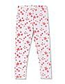 Cherokee Girls Star Print Cotton Stretch Leggings