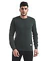 Flying Machine Slim Fit Patterned Sweater