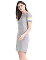 Flying Machine Women Heathered Jersey T-Shirt Dress