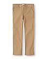 The Children's Place Girls Brown Uniform Skinny Pants