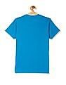U.S. Polo Assn. Kids Blue Boys Crew Neck Printed T-Shirt