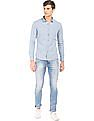 Flying Machine Slim Fit Washed Chambray Shirt