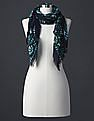 GAP Women Blue Bandana Scarf
