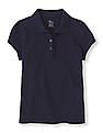 The Children's Place Girls Short Sleeve Ruffle Polo Shirt