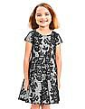 The Children's Place Girls Floral Fit And Flare Dress