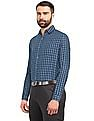 Roots by Ruggers Blue Long Sleeve Check Shirt