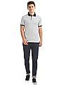 Arrow Sports Striped Jersey Polo Shirt
