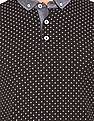 Flying Machine Cross Print Button Down Polo Shirt