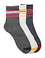 Ruggers Ankle Length Cotton Stretch Socks - Pack Of 3