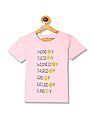 Cherokee Girls Round Neck Smiley Graphic T-Shirt