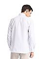 Excalibur White French Placket Check Shirt