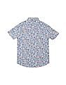 U.S. Polo Assn. Kids Boys Floral Print Cotton Shirt