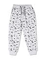Cherokee Grey Boys Mid Rise Printed Joggers