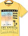 Cherokee Yellow Boys Cotton Jersey Printed T-Shirt