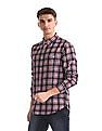 Aeropostale Red Button Down Collar Check Shirt